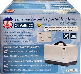 four micro ondes 7 litres soit 24 v soit 12v. Black Bedroom Furniture Sets. Home Design Ideas